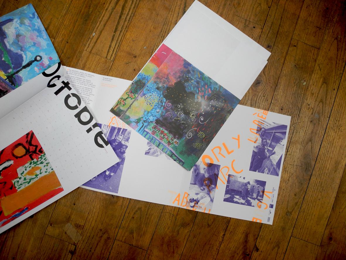"""Calendrier """"ateliers artistiques à Orlyparc"""""""