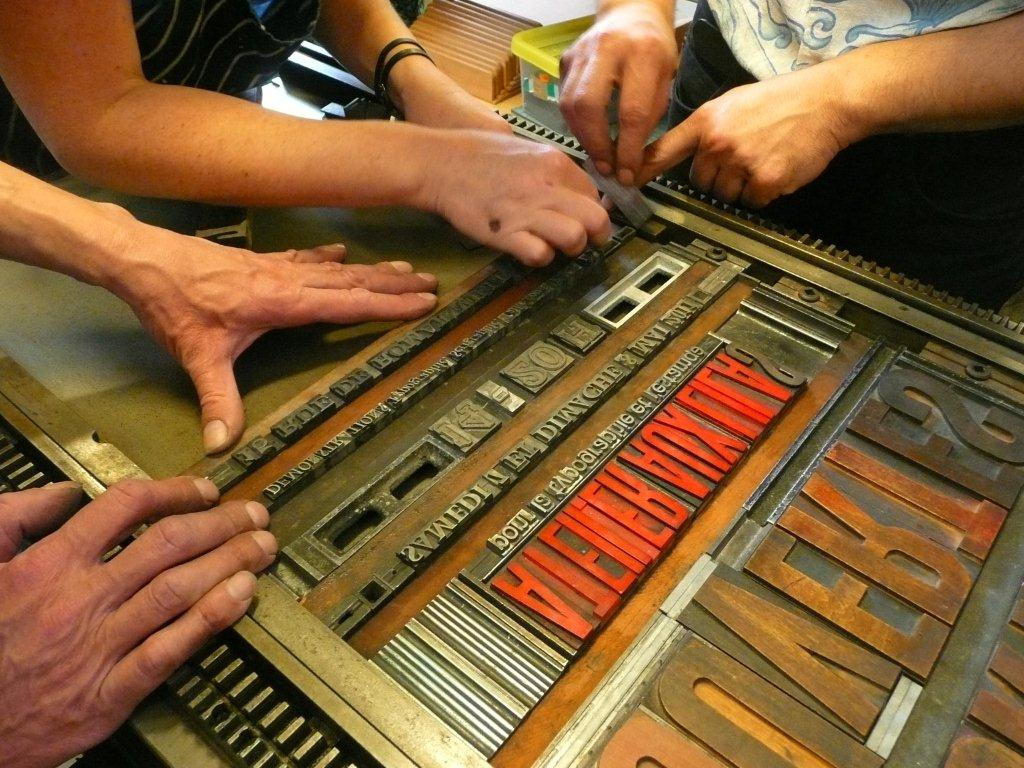Atelier aux Lilas pour la typographie et l'estampe
