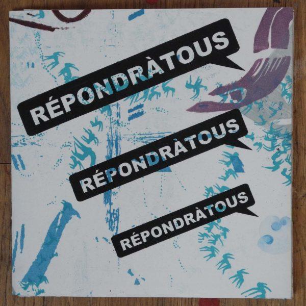 """Fanzine """"répondre à tous"""", 2017, réalisé par 12 artistes de """"l'atelier aux Lilas pour la typographie et l'estampe"""""""